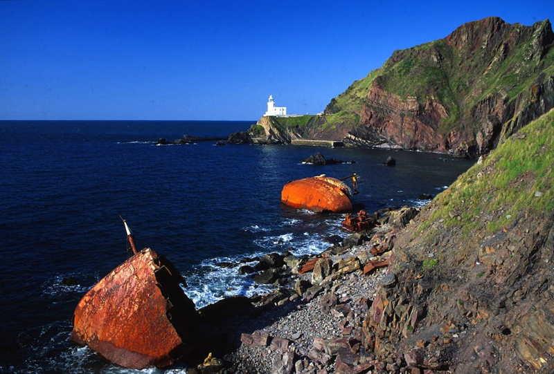 Shipwreck At Hartland Point Cornwall Seaside Holiday Cottage